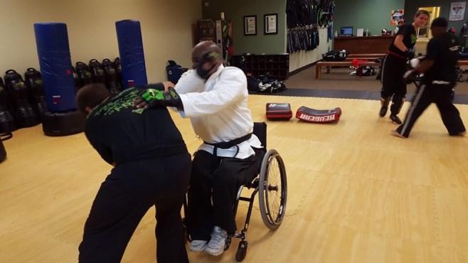 Wheelchair Karate: Attack the Attacker